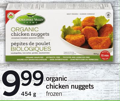 Organic Chicken Nuggets.454 g