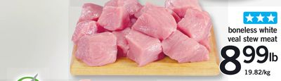 Boneless White Veal Stew Meat