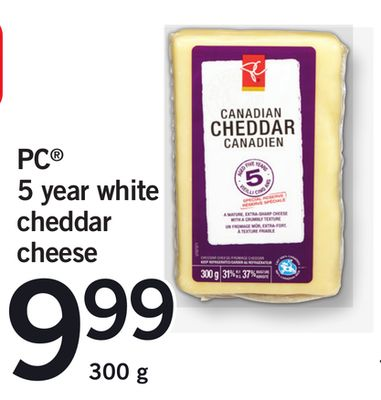 PC 5 Year White Cheddar Cheese - 300 g