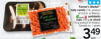 Farmer's Market Baby Carrots - 2 Lb Portobello Caps - 240 G Or Sliced - 170 G