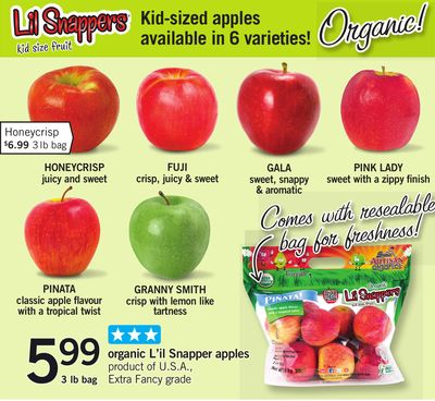 Organic L'il Snapper Apples - 3 Lb Bag