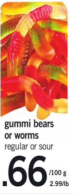 Gummi Bears Or Worms Regular Or Sour