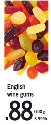 English Wine Gums