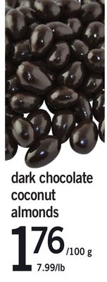 Dark Chocolate Coconut Almonds