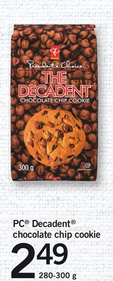 PC Decadent Chocolate Chip Cookie - 280-300 g