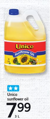 Unico Sunflower Oil - 3 L