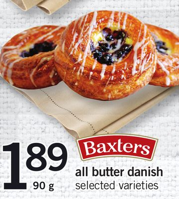 Baxters All Butter Danish - 90 g