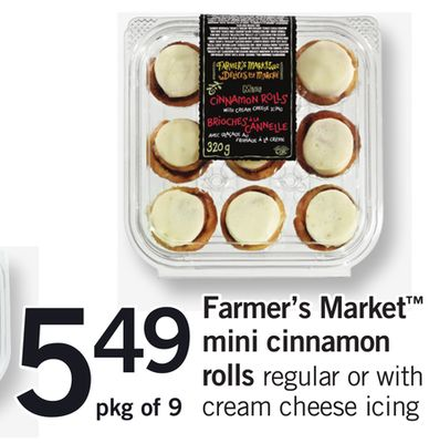 Farmer's Market Mini Cinnamon Rolls - Pkg of 9