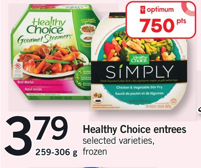 Healthy Choice Entrees - 259-306 g