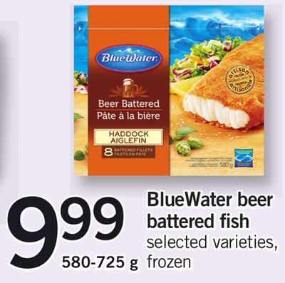 Bluewater Beer Battered Fish 580-725 g