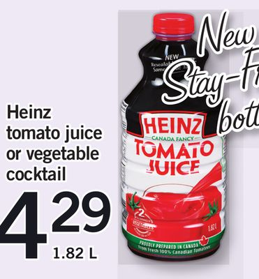 Heinz Tomato Juice Or Vegetable Cocktail.1.82 L