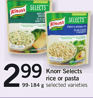 Knorr Selects Rice Or Pasta - 99-184 g
