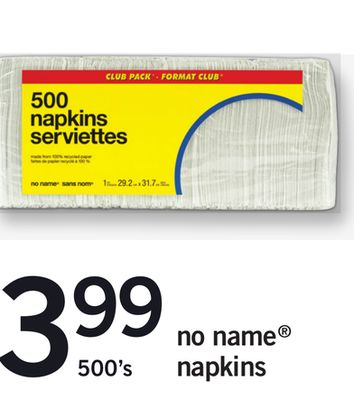 No Name Napkins - 500's