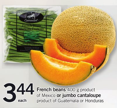 French Beans 400 G Product Of Mexico Or Jumbo Cantaloupe