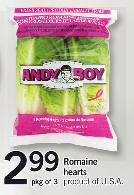 Romaine Hearts - Pkg of 3