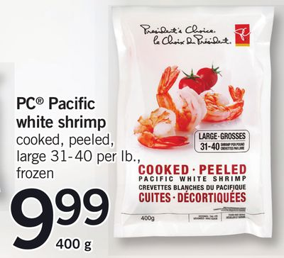 PC Pacific White Shrimp - 400g - 31-40 Per Lb.