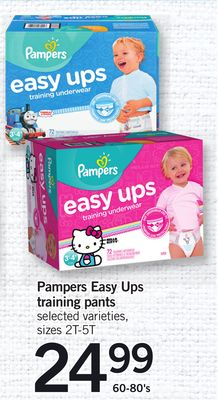 Pampers Easy Ups Training Pants - 60-80's