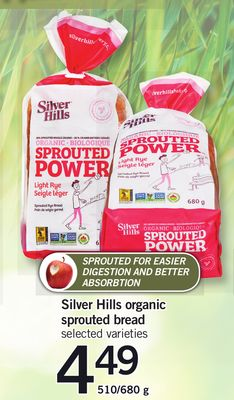 Silver Hills Organic Sprouted Bread - 510/680 g
