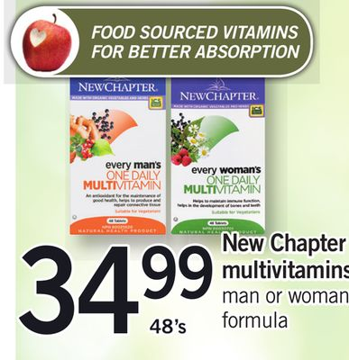 New Chapter Multivitamins.48's