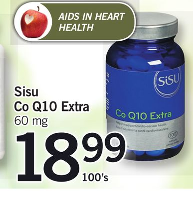 Sisu Co Q10 Extra.60 Mg 100's