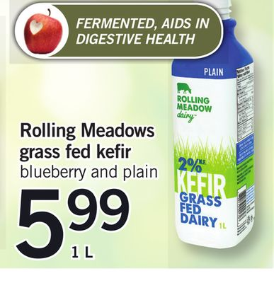 Rolling Meadows Grass Fed Kefir - 1 L