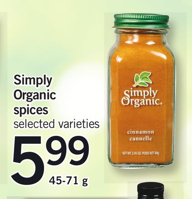 Simply Organic Spices - 45-71 g