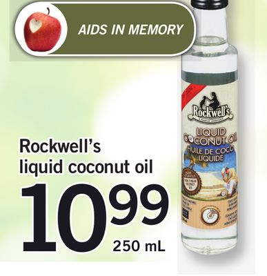 Rockwell's Liquid Coconut Oil.250 mL