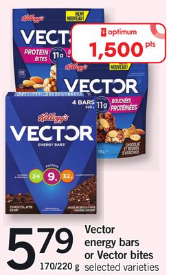 Vector Energy Bars Or Vector Bites - 170/220 g