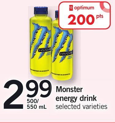 Monster Energy Drink - 500/550 mL