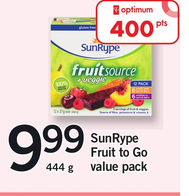 Sunrype Fruit To Go Value Pack - 444 g