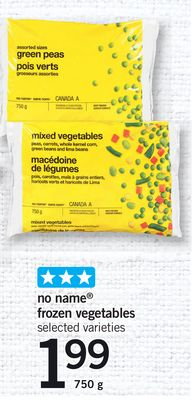 No Name Frozen Vegetables - 750 g