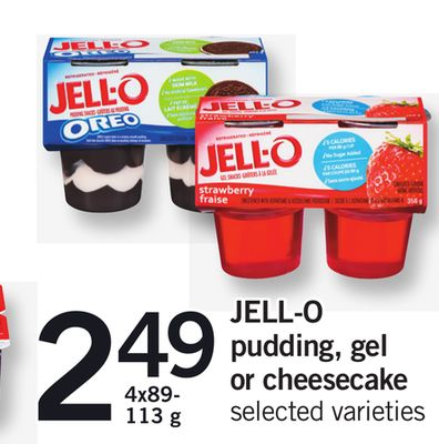 Jell-o Pudding - Gel Or Cheesecake - 4x89- 113 g