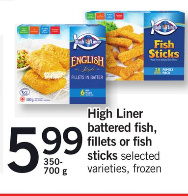 High Liner Battered Fish - Fillets Or Fish Sticks - 350- 700 g
