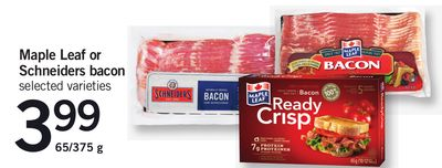 Maple Leaf Or Schneiders Bacon.65/375 g
