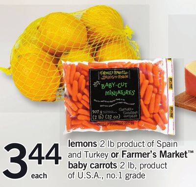 Lemons 2 Lb Or Farmer's Market Baby Carrots 2 Lb