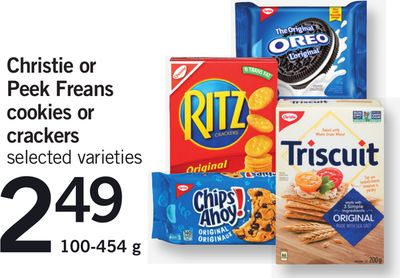Christie Or Peek Freans Cookies Or Crackers - 100-454 g