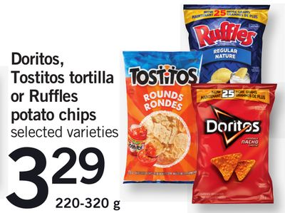 Doritos - Tostitos Tortilla Or Ruffles Potato Chips - 220-320 g