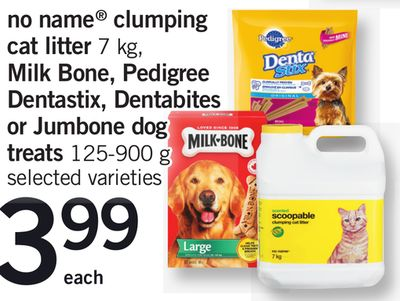 No Name Clumping Cat Litter - 7 Kg - Milk Bone - Pedigree Dentastix - Dentabites Or Jumbone Dog Treats - 125-900 G