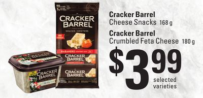 Cracker Barrel Cheese Snacks - 168 g Cracker Barrel Crumbled Feta Cheese - 180 g