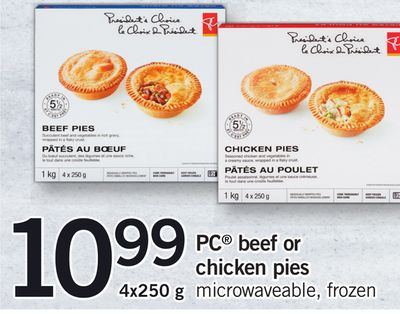 PC Beef Or Chicken Pies Microwaveable - 4x250 g