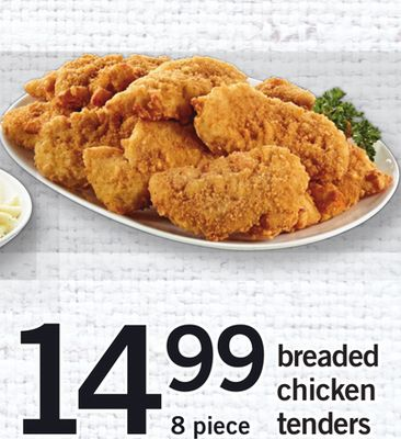 Breaded Chicken Tenders - 8 Piece