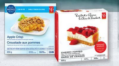 PC Cheesecake - 600 g or PC Or Blue Menu Apple Crisp 650 G