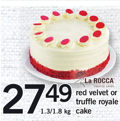 Red Velvet Or Truffle Royale Cake - 1.3/1.8 Kg