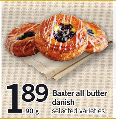 Baxter All Butter Danish - 90 g