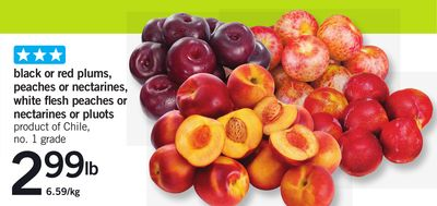 Black Or Red Plums - Peaches Or Nectarines - White Flesh Peaches Or Nectarines Or Pluots
