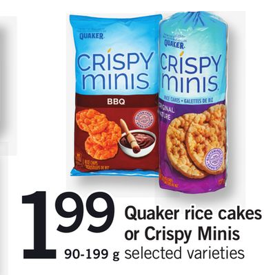 Quaker Rice Cakes Or Crispy Minis - 90-199 g