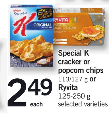 Special K Cracker Or Popcorn Chips - 113/127 g or Ryvita - 125-250 g