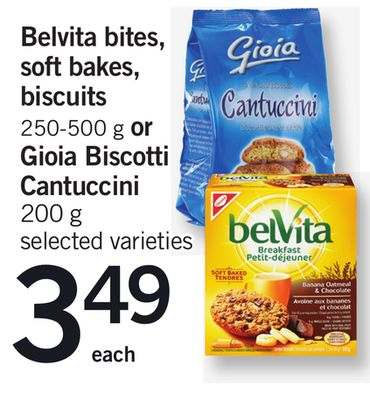 Belvita Bites - Soft Bakes - Biscuits 250-500 G Or Gioia Biscotti Cantuccini - 200 G