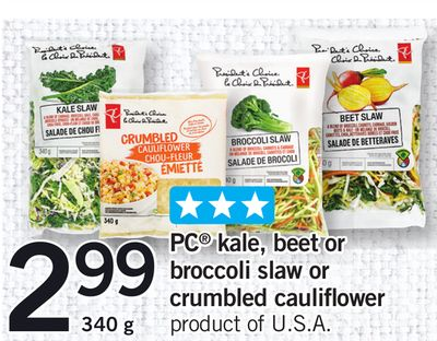 PC Kale - Beet Or Broccoli Slaw Or Crumbled Cauliflower - 340 g