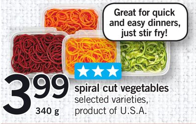 Spiral Cut Vegetables - 340 g